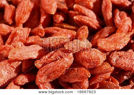 goji wolfberry full frame, bright color, soft focus poster