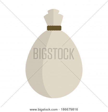tied bag coffee aroma fresh vector illustration