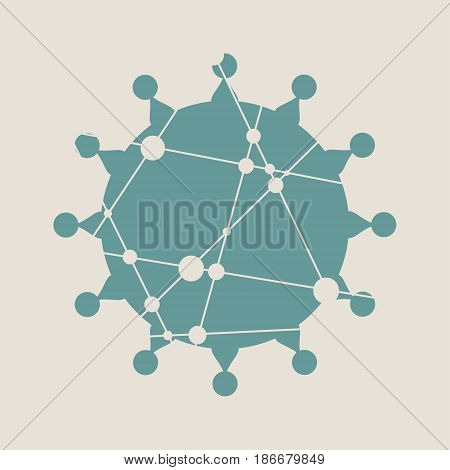 Medical industry, biotechnology and biochemistry. Scientific medical designs. Virus diseases relative theme. Molecule And Communication style. Connected lines with dots.