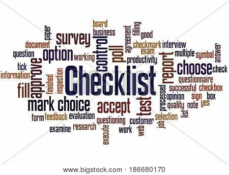 Checklist, Word Cloud Concept 2
