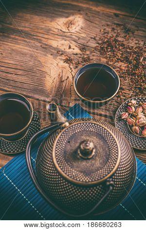 Asian Cast Iron Tea Set