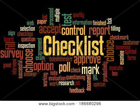 Checklist, Word Cloud Concept 4