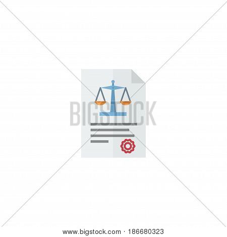 Flat Law Element. Vector Illustration Of Flat Act Isolated On Clean Background. Can Be Used As Act, Law And Rule Symbols.