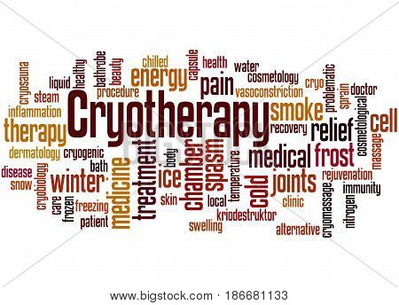 Cryotherapy, Word Cloud Concept