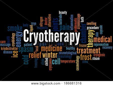 Cryotherapy, Word Cloud Concept 3