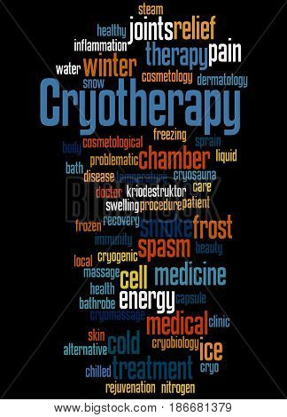 Cryotherapy, Word Cloud Concept 4