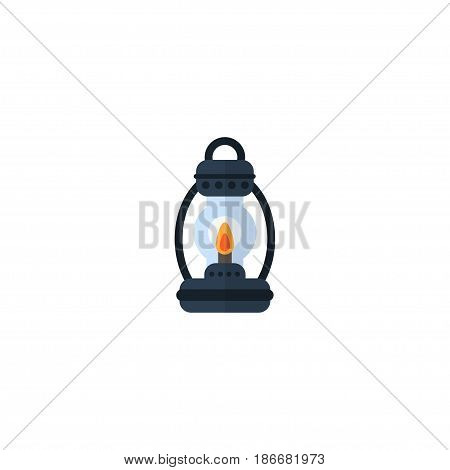 Flat Lamp Element. Vector Illustration Of Flat Kerosene Isolated On Clean Background. Can Be Used As Kerosene, Lamp And Lighter Symbols.