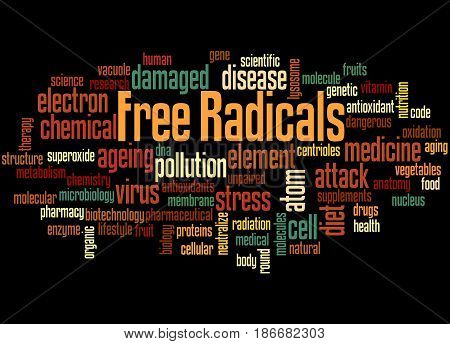 Free Radicals, Word Cloud Concept 4