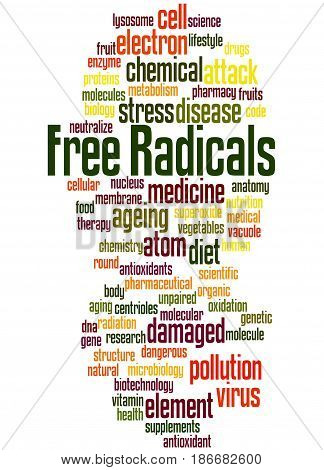 Free Radicals, Word Cloud Concept 7