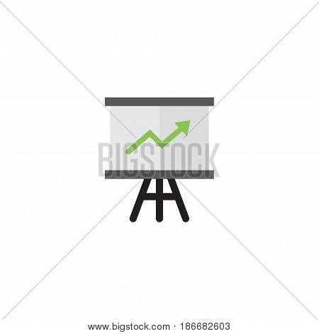 Flat Statistics Element. Vector Illustration Of Flat Growing Chart Isolated On Clean Background. Can Be Used As Growing, Chart And Arrow Symbols.