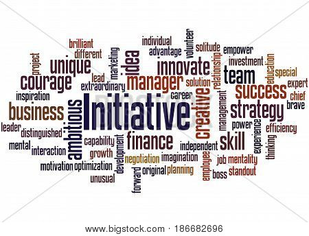Initiative, Word Cloud Concept