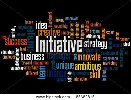 Initiative, Word Cloud Concept 2