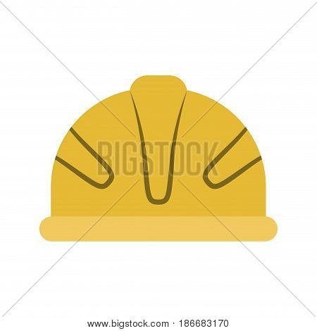 colorful silhouette with protective yellow helmet vector illustration