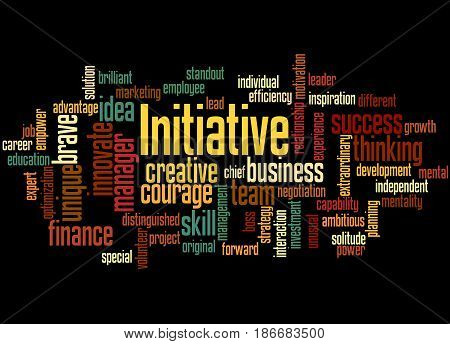Initiative, Word Cloud Concept 7