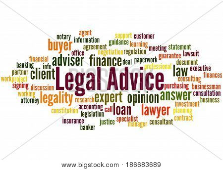 Legal Advice, Word Cloud Concept