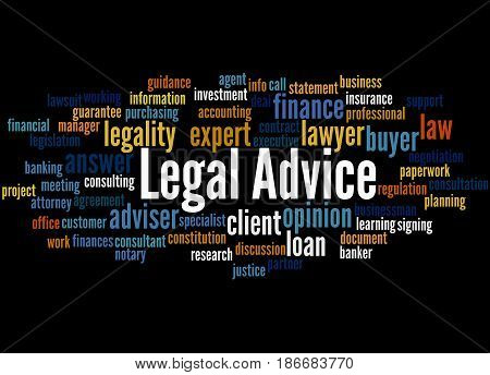 Legal Advice, Word Cloud Concept 2
