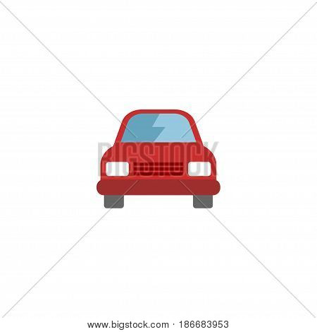 Flat Car Element. Vector Illustration Of Flat Automobile Isolated On Clean Background. Can Be Used As Car, Vehicle And Automobile Symbols.