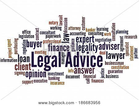 Legal Advice, Word Cloud Concept 4