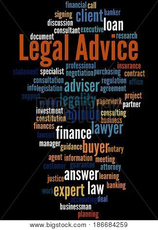Legal Advice, Word Cloud Concept 7