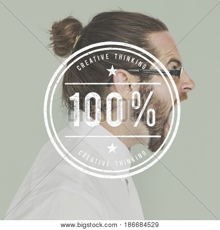 Hundred Percent Original Quality Guarantee Word Stamp Banner Graphic