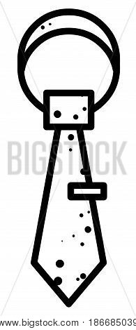 Cartoon image of Tie Icon. Necktie symbol. An artistic freehand picture.