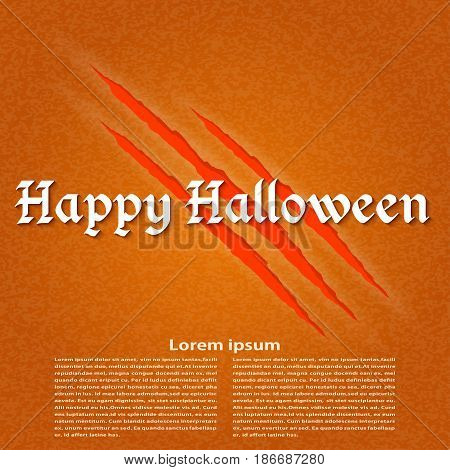 Paper for the holiday Halloween. Vector illustration.
