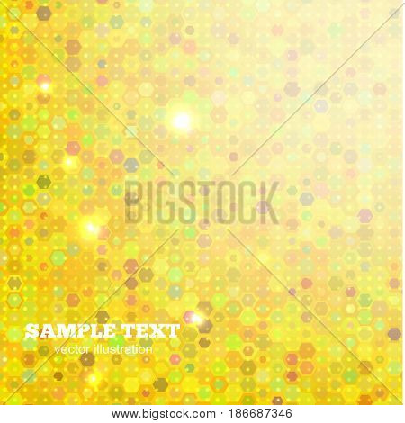 Abstract yellow background with geometric elements. Vector illustration.
