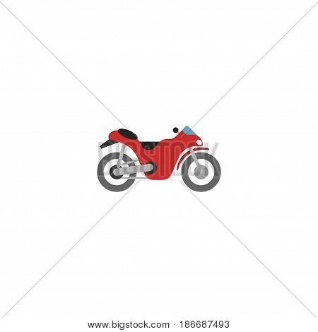 Flat Motorcycle Element. Vector Illustration Of Flat Motorbike Isolated On Clean Background. Can Be Used As Motorcycle, Motorbike And Bike Symbols.