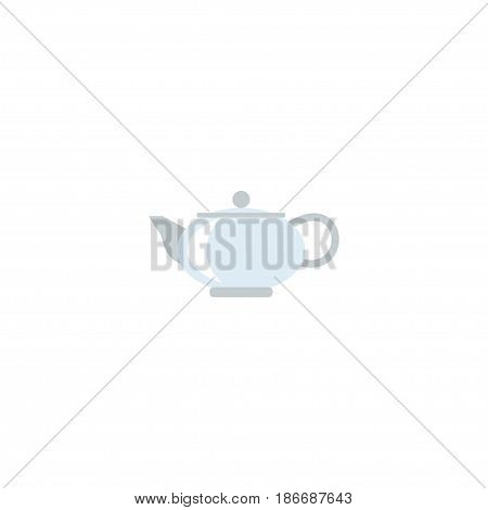Flat Kettle Element. Vector Illustration Of Flat Teapot Isolated On Clean Background. Can Be Used As Kettle, Teapot And Pot Symbols.