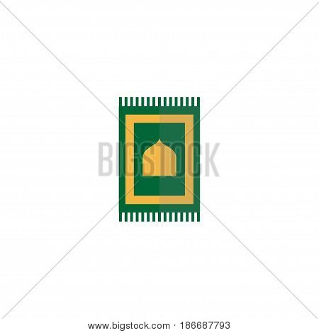 Flat Rug Element. Vector Illustration Of Flat Prayer Carpet Isolated On Clean Background. Can Be Used As Prayer, Carpet And Rug Symbols.