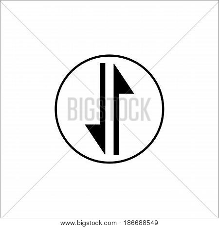 exchange solid icon, mobile internet and 3g, vector graphics, a filled pattern on a white background, eps 10.