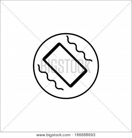 Phone vibration solid icon, mobile sign and smartphone, vector graphics, a filled pattern on a white background, eps 10.
