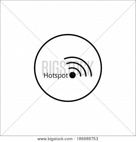 Hotspot solid icon, mobile sign and wifi zone, vector graphics, a filled pattern on a white background, eps 10.