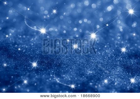 dark blue stars and glitter sparkles background , super macro shot, shallow DOF