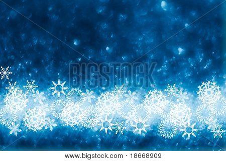blue glitter sparkles snow flakes background , super macro shot, shallow DOF
