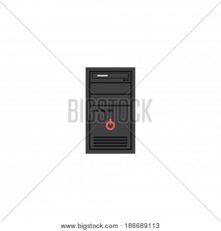Flat Processor Element. Vector Illustration Of Flat System Unit Isolated On Clean Background. Can Be Used As Processor, System And Unit Symbols.