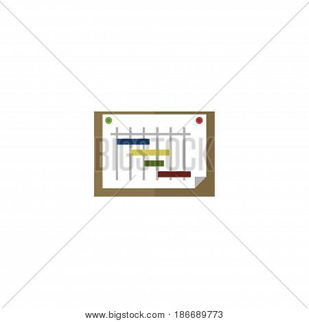 Flat Planning Element. Vector Illustration Of Flat Schedule  Isolated On Clean Background. Can Be Used As Schedule And Graph Symbols.