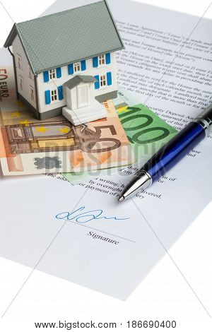 House real estate contract lease agreement document property