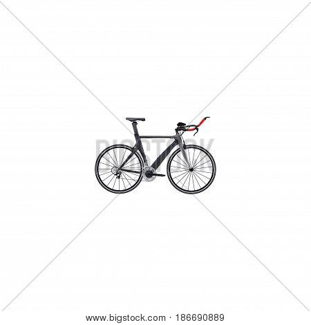 Realistic Triathlon Bike Element. Vector Illustration Of Realistic Competition Bicycle Isolated On Clean Background. Can Be Used As Triathlon, Bicycle And Bike Symbols.