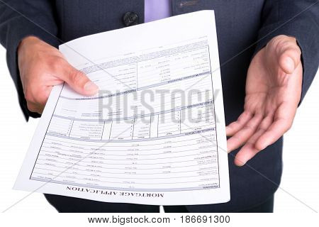 Loan house real estate document business form mortgage