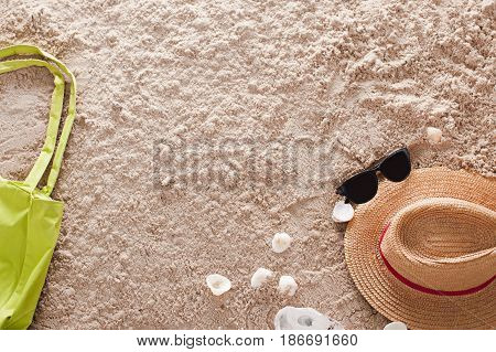 The abstract sandy tropical beach. Concept of vacation