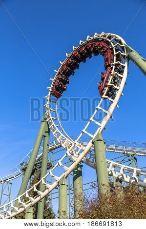 Rollercoaster Ride At A Theme Park