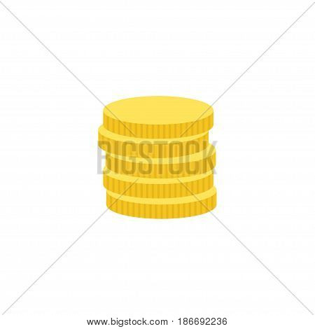 Flat Coins Element. Vector Illustration Of Flat Small Change Isolated On Clean Background. Can Be Used As Small, Change And Coins Symbols.