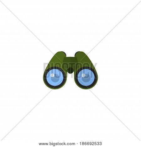Flat Binoculars Element. Vector Illustration Of Flat Zoom Isolated On Clean Background. Can Be Used As Zoom, Glass And Binoculars Symbols.