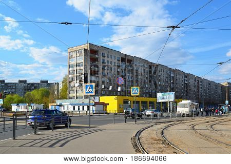 Tver Russia - may 07.2017. View Tchaikovsky street in a city center