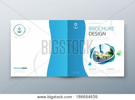 Square Brochure design. Corporate business template for rectangle brochure, report, catalog, magazine. Corporate Business Annual Report Cover, brochure or flyer design