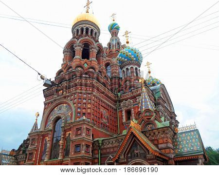 Church of the Savior on Spilled Blood, one of the main sights of St. Petersburg, Russia - June 2016