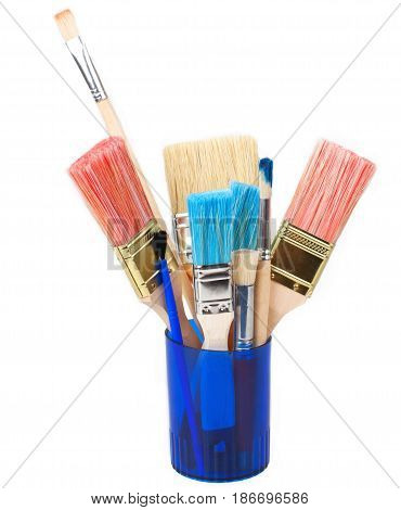 Paintbrushes home improvement house painting painting brushes art equipment isolated on white
