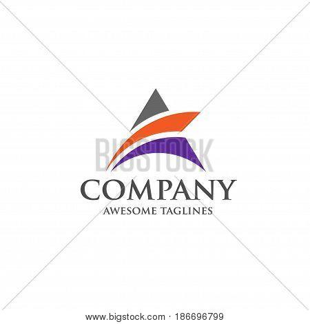 A letter logo design vector illustration template, A letter logo vector, letter A logo vector, creative Letter A letter logo