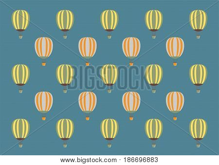 Hot Air Balloon With Blue Sky Background